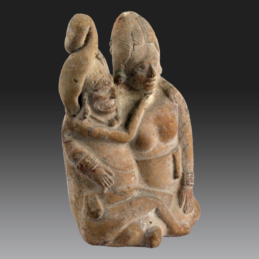 Deux Individus Assis, Mexique, Île De Jaina, Maya (classique Récent, 600-900 Pcn)-photo-2