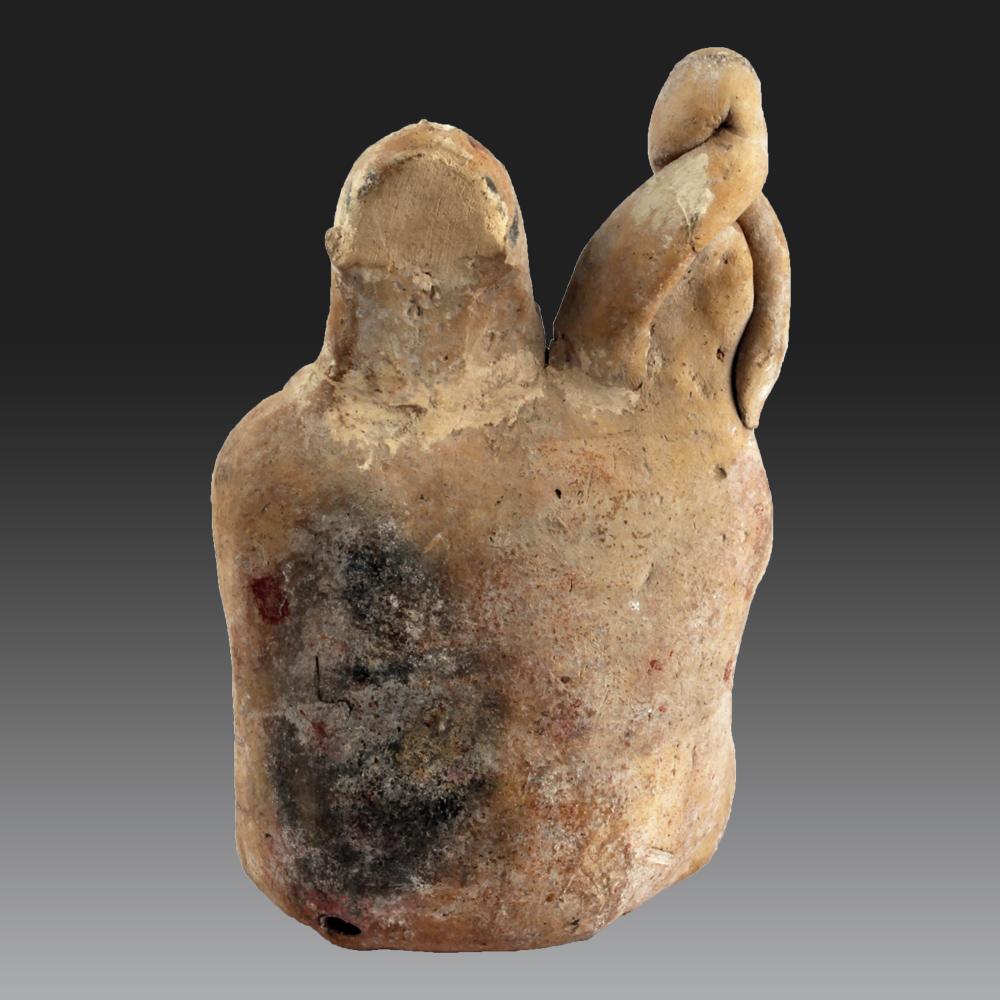 Deux Individus Assis, Mexique, Île De Jaina, Maya (classique Récent, 600-900 Pcn)-photo-3