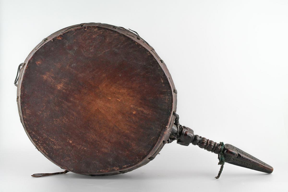 Drum Called Dhyangro - Nepal - 19th Century-photo-2