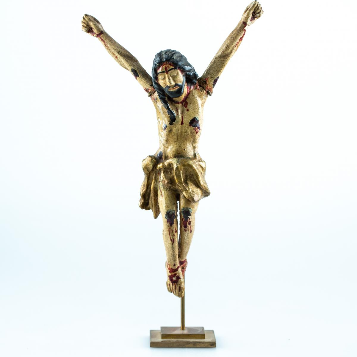 Christ In Carved Wood - Polychrome - Without Doubt Spain - 17th Century