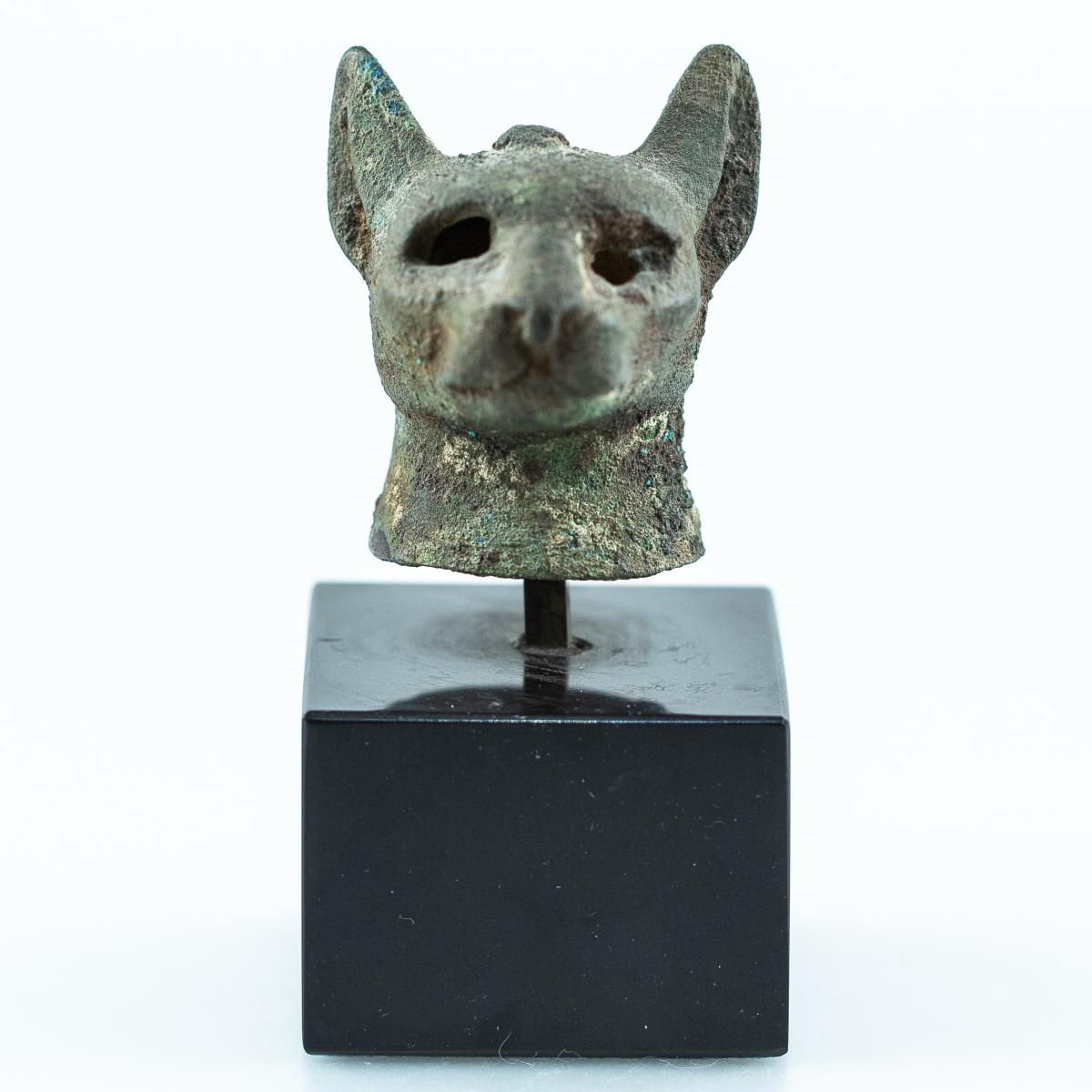 Votive Head Of Goddess Bastet