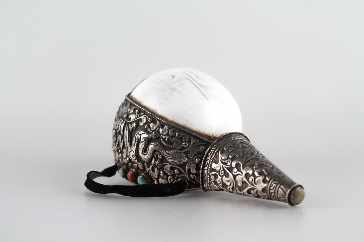 Conch - Tibet, 19th - 20th Century.