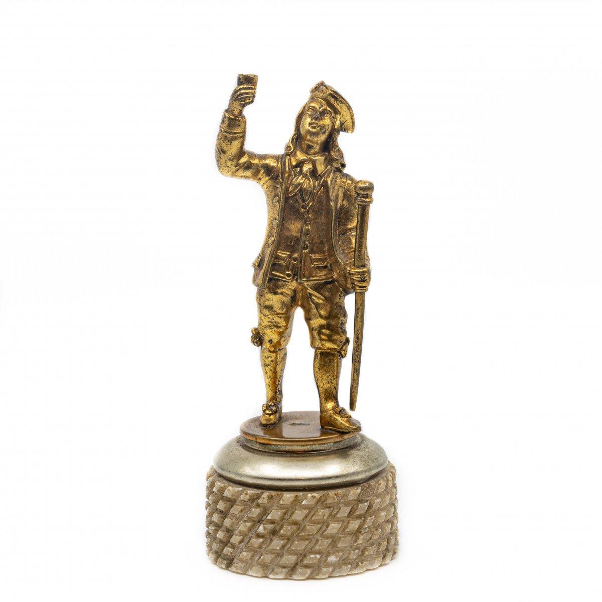 Gentleman In Gilt Bronze - France, 2nd Half Of The 18th Century