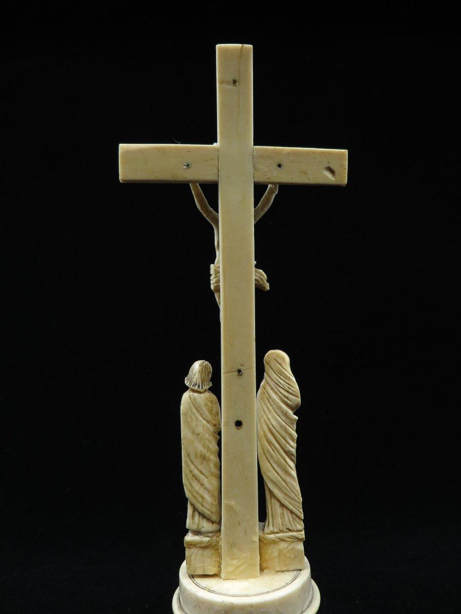 Crucifixion en ivoire - Sino-Portugais 17e siècle-photo-1