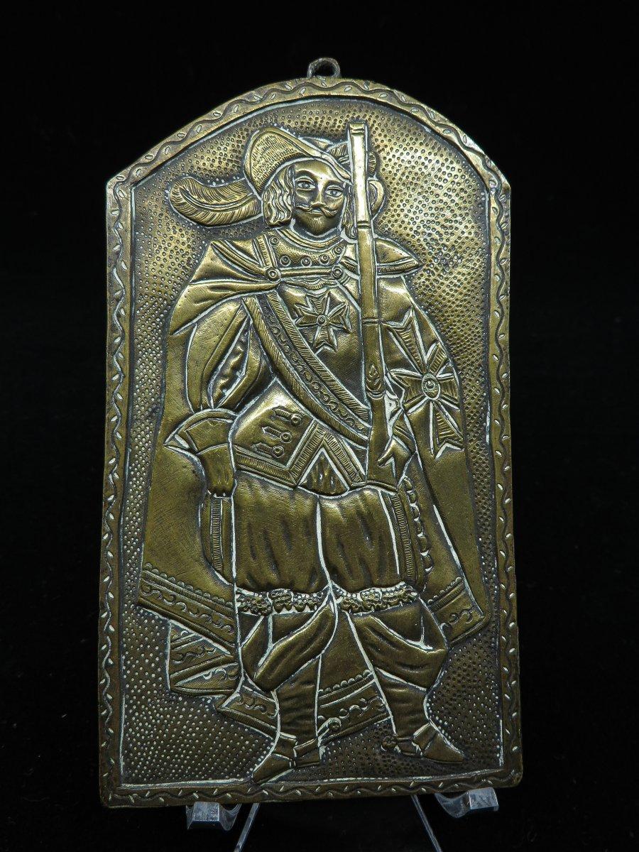 Representative Plaque A Soldier - 17th Century Or 18th Century