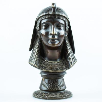 Bronze Bust - Egyptomania - Attributed To The 1st Half Of The 19th Century