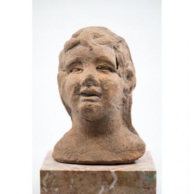 Votive Head Terracotta - Central Italy, 1st Half Of 3rd Century Pcn