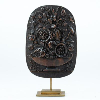 Small Carved Wood - Floral Decor - Early 19th Century