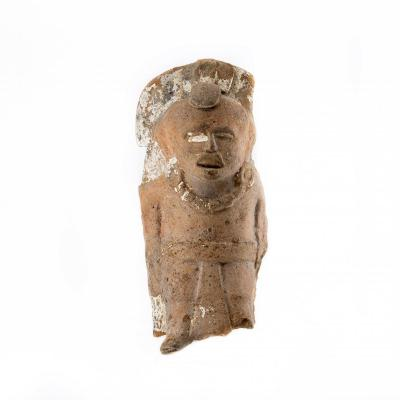 Fragment Of A Mayan Statuette - Classical Period (250-450 Pcn)