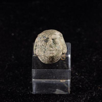 Petite Tête En Bronze Masculine - Grèce - Époque Archaïque