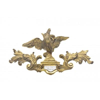Élément d'une horloge en bronze doré - France, Paris (Thuret(s) (ca 1630-1738))