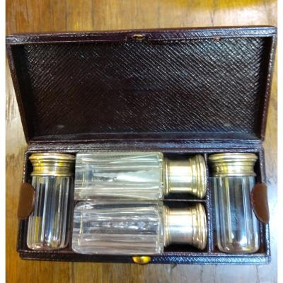 Perfume Box In Silver And Crystal