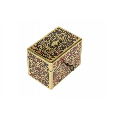 0007 / 0997c Moneybox Boulle Marquetry On All Its Faces