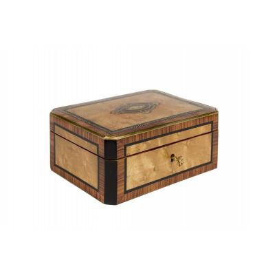 0010/0992 Jewelry Box In Elm Loupe Marquetry