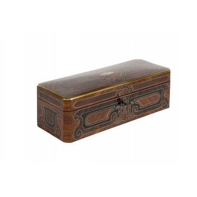 0015 / 0970b Glove Box With Regency Decorations