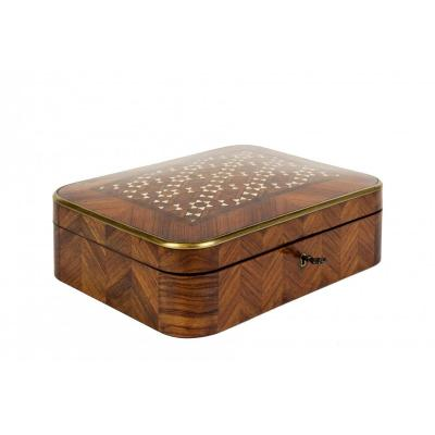 0031/0959 Jewelry Box With Geometric Inlay