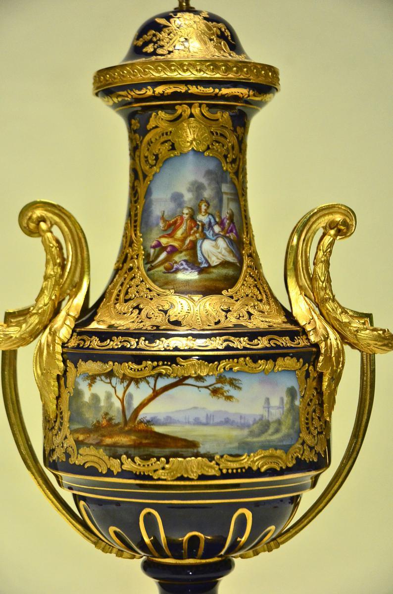 Vase Porcelain And Gilt Bronze Signed Paris Sèvres