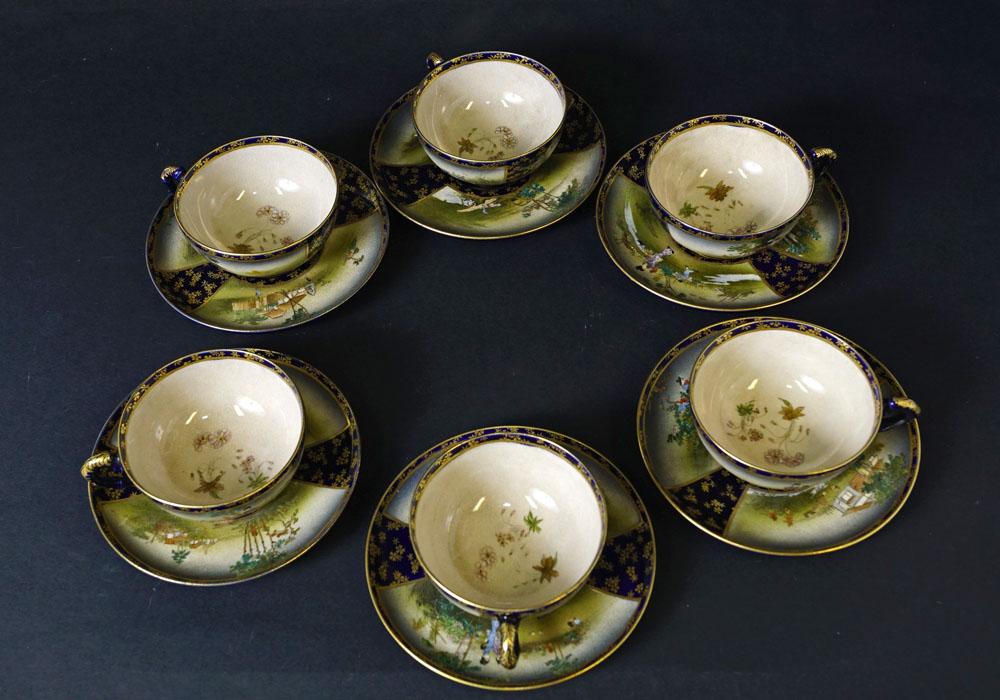 6 And Under Mugs Mugs Satsuma Tea Signed Kinkozan