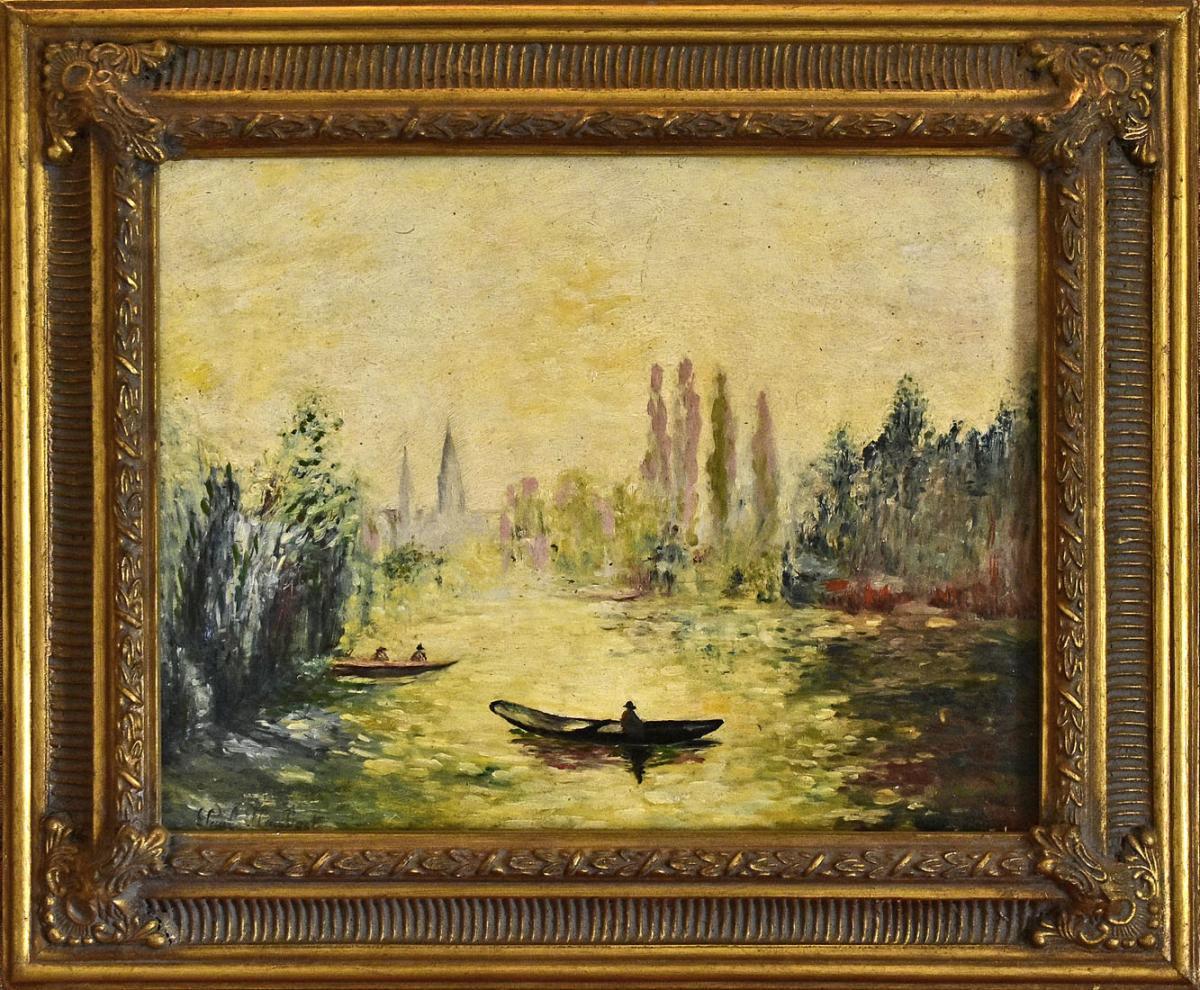 Oil On Panel Signed Paul Flaubert