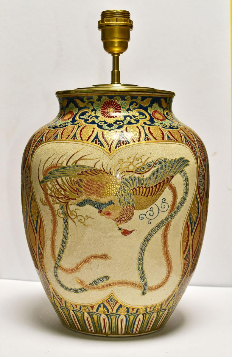 Satsuma Porcelain Vase Japan End Of 19th