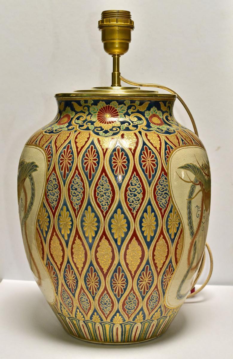 Satsuma Porcelain Vase Japan End Of 19th-photo-2