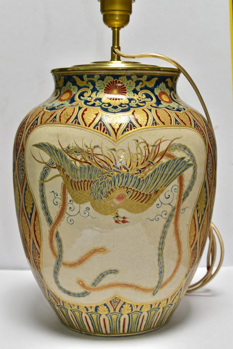 Satsuma Porcelain Vase Japan End Of 19th-photo-3