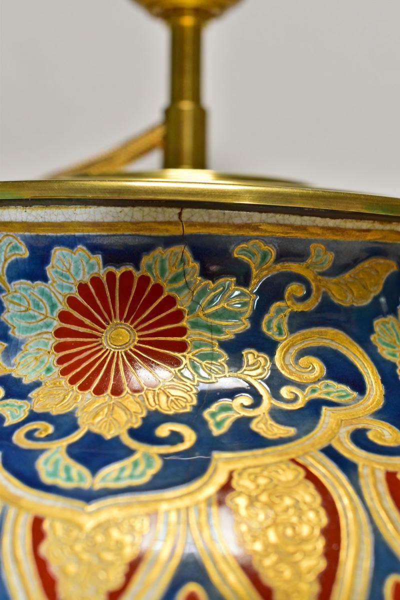 Satsuma Porcelain Vase Japan End Of 19th-photo-5