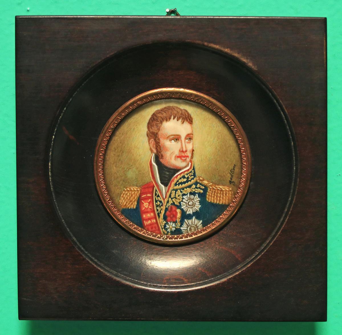 Portrait Miniature Du Maréchal Lannes Début 20ème