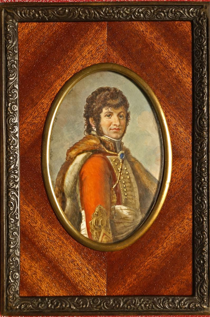 Miniature Portrait Of Joachim Murat
