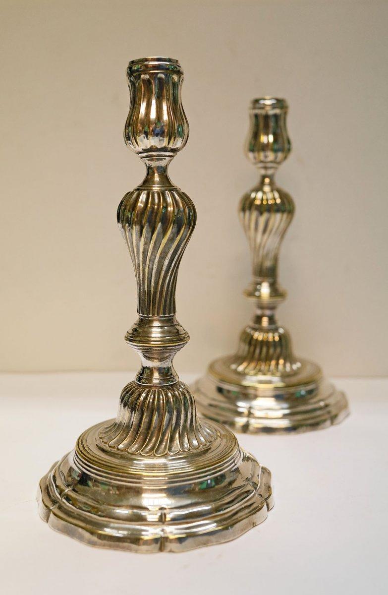 Pair Of Candlesticks Bronze Bronze 18th
