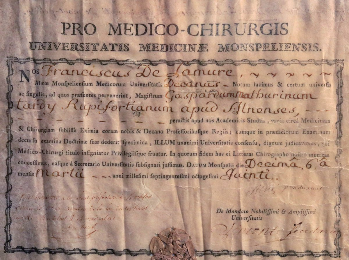 Bachelor's Degree In Medicine From The University Of Montpellier 1785-photo-2