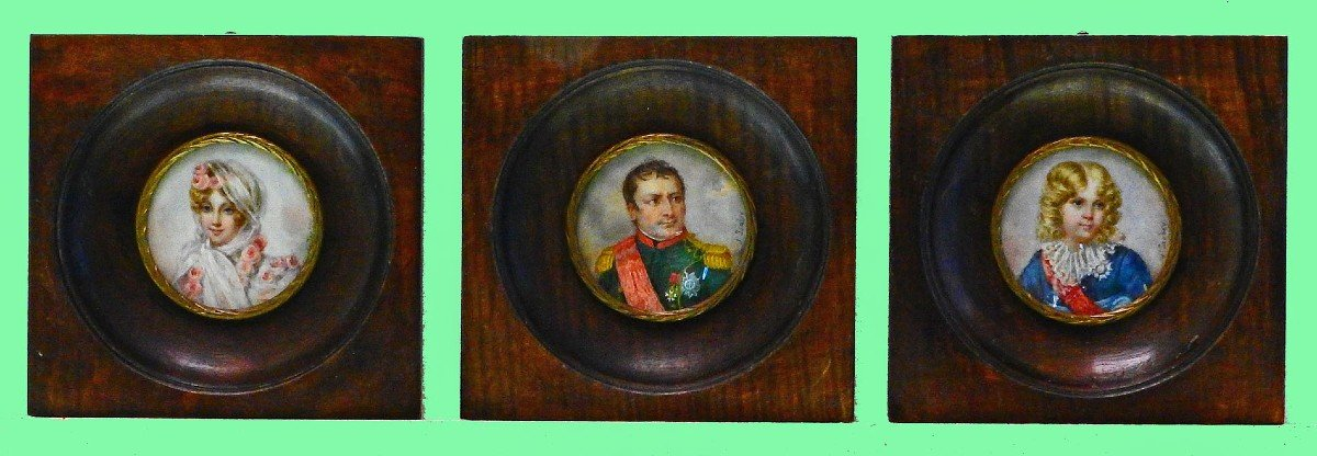 3 Miniatures Of The Imperial Family Napoleon 1st