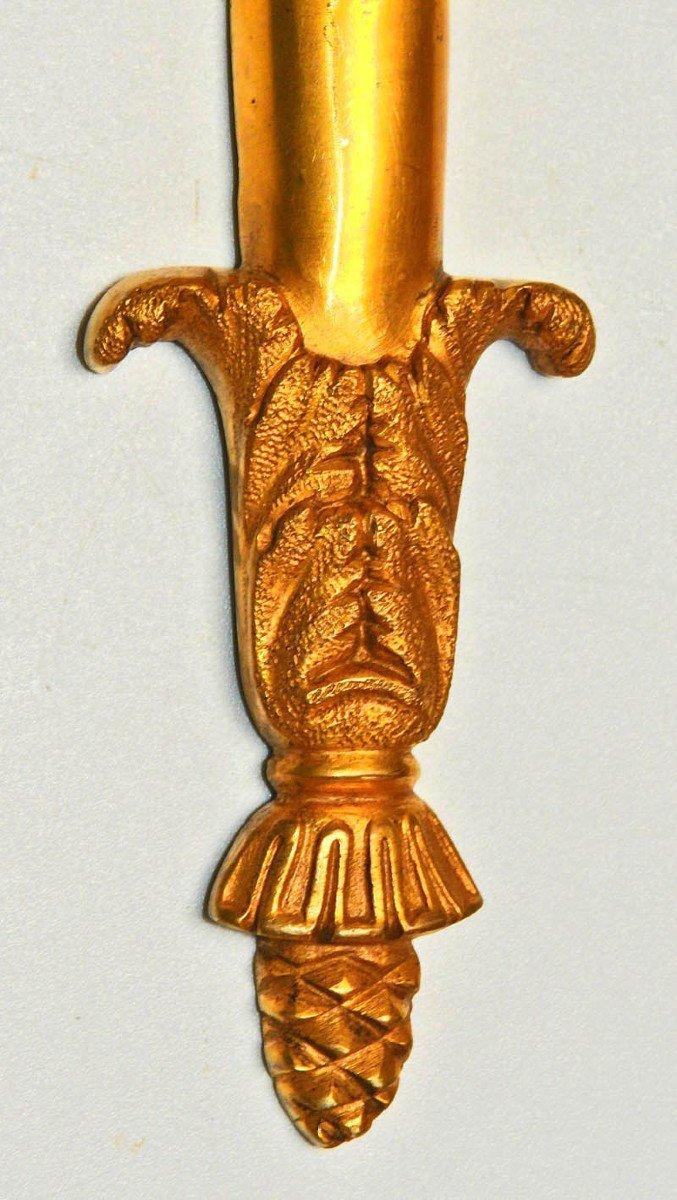 Paire d'Appliques En Bronze Doré 19-20 ème-photo-4