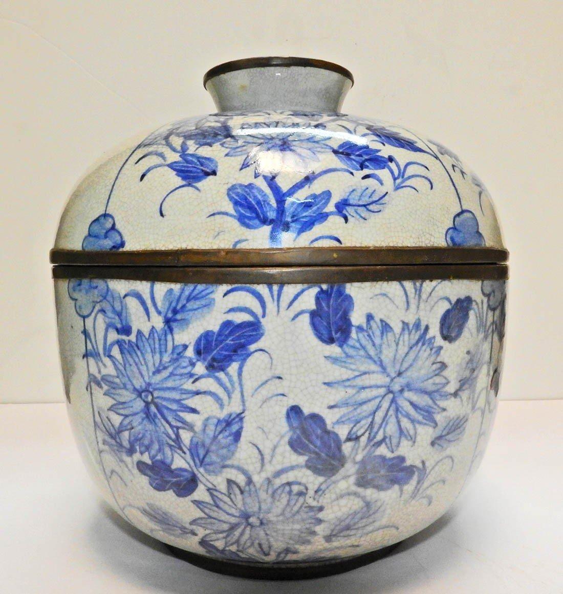 Pot Couvert En Porcelaine Chinoise Marque Ming-photo-2
