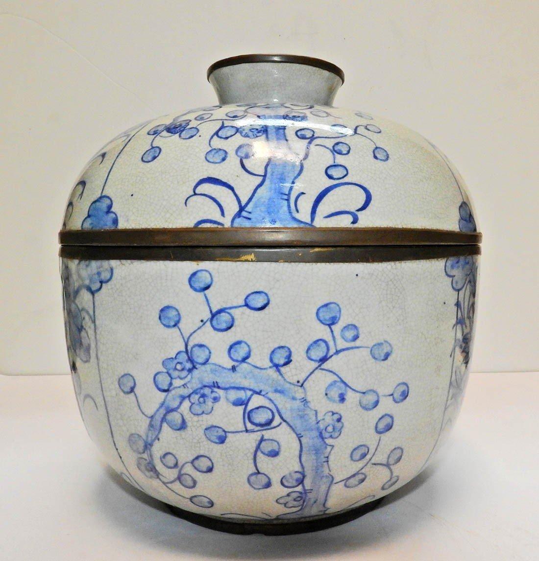 Pot Couvert En Porcelaine Chinoise Marque Ming-photo-3