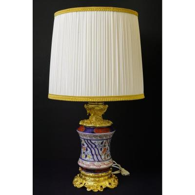 Lamp Porcelain And Gilt Bronze 1840