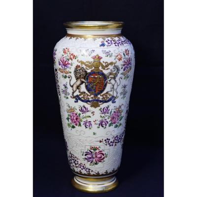 Vase En Porcelaine De Paris Signé Samson