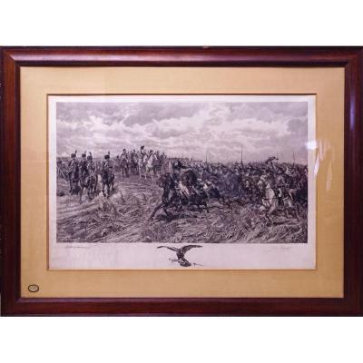 Grande Lithographie Friedland 1807 Meissonier Ernest (1815-1891)