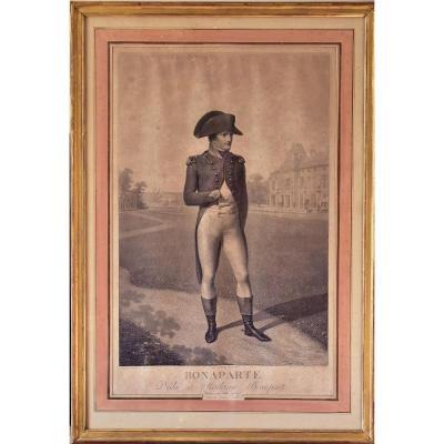 Lithographie De Napoléon Bonaparte d'Après Isabey
