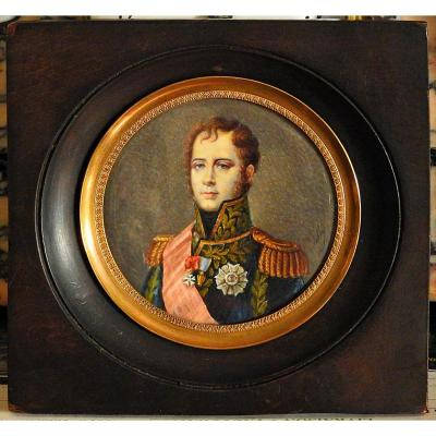 Miniature Portrait Of Marshal Ney 1st Empire
