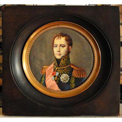 Miniature Portrait Du Maréchal Ney 19 ème