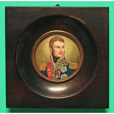 Miniature Portrait Of Marshal Lannes Early 20th