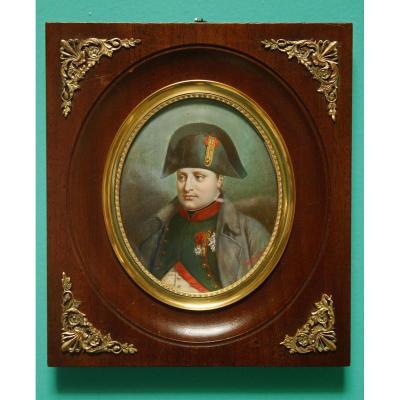 Miniature, Portrait De Napoléon 1er 1847