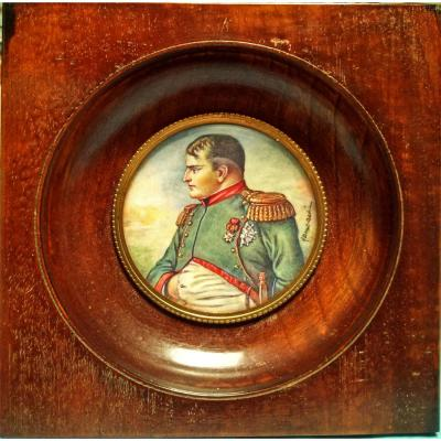 Miniature Portrait Of Napoleon 1st Early 20th