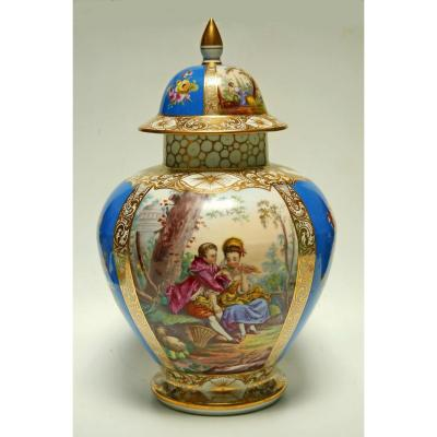 Covered Pot Porcelain Paris Late 19th