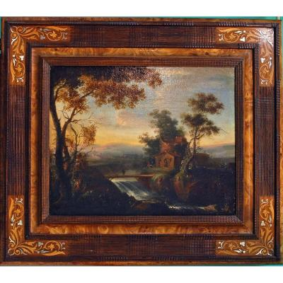 Oil On Canvas Landscape Late 18th