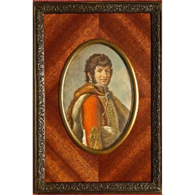 Portrait Miniature De Joachim Murat