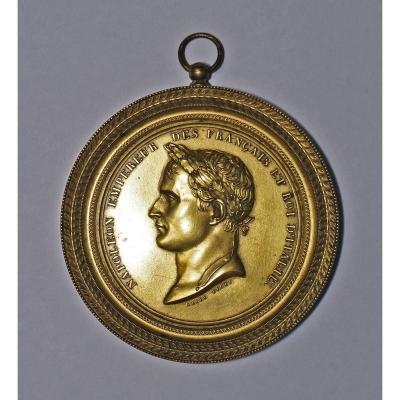 Medallion Gilded Bronze Edited During The Rite Of Napoleon