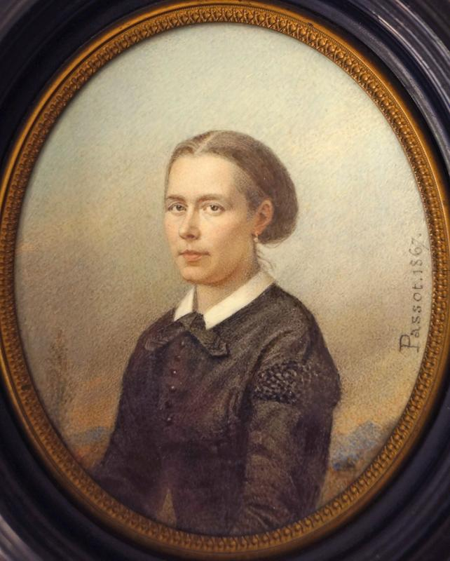 Miniature Portrait Of A Lady Of Quality By Passot 1867-photo-2