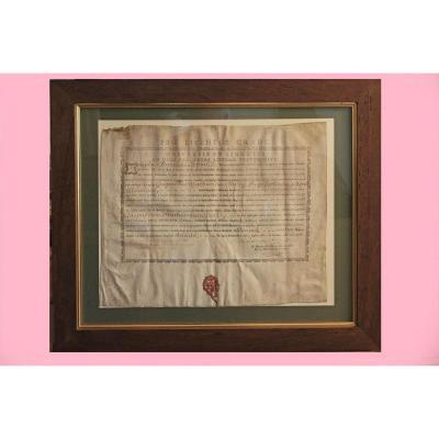 Diplôme De Licencié En Médecine De l'Université De Montpellier 1785